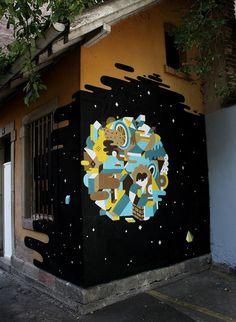 Nelio, imaginative street art, graffiti art, street artists, urban murals, urban art, mr pilgrim art.