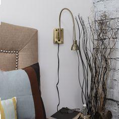 Somette Gilford Antique Bronze Adjustable Gooseneck LED Wall Spotlight