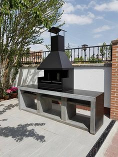 Barbecue Patio Ideas – With the weekend drawing to a close and summer just on the way, getting a barbecue station running might be an idea on the top of your mind. Barbecue Design, Grill Design, Outdoor Kitchen Plans, Outdoor Kitchen Design, Parrilla Exterior, Wood Pizza, Outdoor Fire, Outdoor Decor, Bbq Set