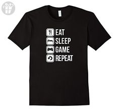 Men's Eat Sleep Game Repeat Gaming Gamer New T-Shirt Tee Top Shirt 3XL Black (*Amazon Partner-Link)