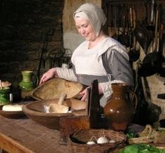 Learn how people lived in days gone by.  See their clothes, sample their food.