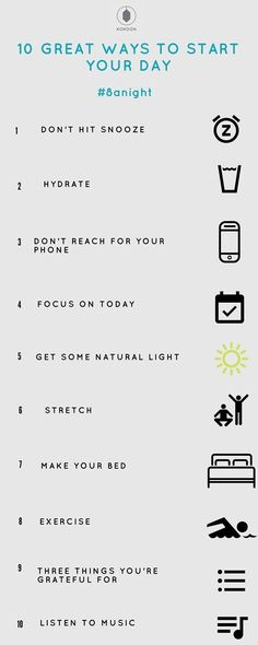 10 great ways to start your day - - Listening to music stimulates the formation of certain brain chemicals and can increase the neurotransmitter dopamine, the brain's motivation muscle. Music can also improve your mood, reduce stress…. Good Habits, Healthy Habits, Healthy Quotes, Healthy Living Quotes, Healthy Living Tips, Healthy Foods, Like A Boss, Healthy Mind, How To Be Healthy
