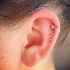Tiny cartilage peircings