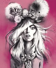 Kai Fine Art is an art website, shows painting and illustration works all over the world. Illustration Example, Art And Illustration, Australia Occidental, Big Eyes Artist, Pink Art, Fantasy, Artist Art, Female Art, Illustrators