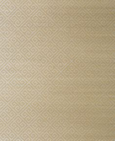 Adapted from the Maze pattern in the Enchantment Collection, Maze Grasscloth is a simple and chic Greek Key, modified so it can be reverse hung. Some colorways include a glamorous printed metallic on top of the #sisal #wallpaper from the Grasscloth Resource vol. 3 collection. Featured here in #metallic #silver on #taupe. #Thibaut