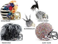 The NFL , CFDA & Bloomingdale's teamed up to bring you these unique helmets in celebration of Superbowl XLVII & to support the National Football League Foundation. For details on the auction, click here: http://cfda.com/the-latest/fashion-touchdown-the-cfda-nfl-bloomingdales And to see & bid on All 48 helmets, click here: http://media.bloomingdales.com/fashion-touchdown/index.aspx#helmets. What do you think of these fashion helmets?