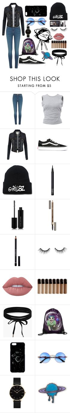 """""""Feel Good Inc."""" by diamond139 ❤ liked on Polyvore featuring River Island, T By Alexander Wang, LE3NO, Vans, Maybelline, NARS Cosmetics, Marc Jacobs, Clarins, Givenchy and tarte"""