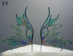 Use irredescent cellophane as well if easier to find. Would make nice angel wings as well.