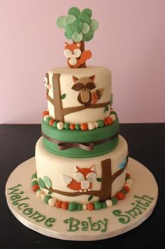 Tree Tops Nursery Bedding Shower by KristyCakes on Cake Central