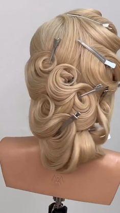 Amazing technique By: Mustafa Avci Curly Hair Styles Easy, Hair Up Styles, Natural Hair Styles, Bun Hairstyles For Long Hair, Pretty Hairstyles, Competition Hair, Ballroom Hair, Long Hair Video, Hair Videos