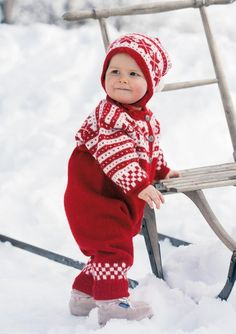 """Fana"" norwegian knit set for babies"