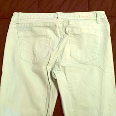 Calvin Klein Mint Skinny Jeans Mint skinny jeans, worn twice. Great condition. Calvin Klein Pants Skinny