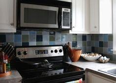 how to paint backsplash tile Eighteenth Century Agrarian Business: diy: painting kitchen tile Backsplash With Dark Cabinets, Beadboard Backsplash, Herringbone Backsplash, Kitchen Backsplash, Paint Backsplash, Travertine Backsplash, Backsplash Ideas, Hexagon Backsplash, Mirror Backsplash