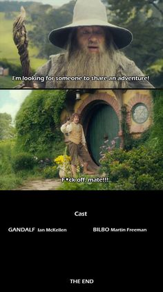 Gandalf: An Unaccepted Journey funny lol hobbit hilarious funny pictures gandalf