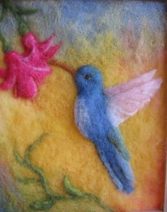 Judit Gilbert's nature needle felted wool picture.