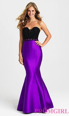 761b57a619106 Strapless Gown with Mermaid Skirt by Madison James. Plus Size Formal ...