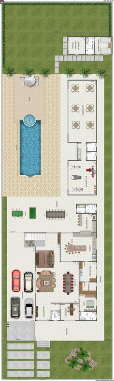 Plan de masse - Immeubles Vue aérienne - ANOUKIS STUDIO - logiciel de plan de maison