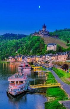 In Cochem, Germany. Places To Travel, Travel Destinations, Places To Visit, Stunning View, Science And Nature, Beautiful Places, Amazing Places, Wonders Of The World, The Good Place