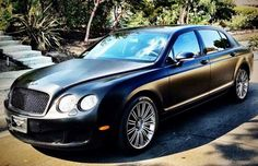 Ben Baller Wraps His Bentley Flying Spur In Black Steel