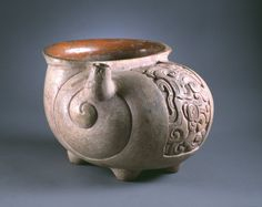 Mayan Chocolate frothing pot in the shape of a shell