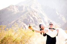 California Wedding Day magazine | newlyweds at Viceroy Palm Springs