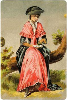 Vintage Shamrock Shoe Lady Image!