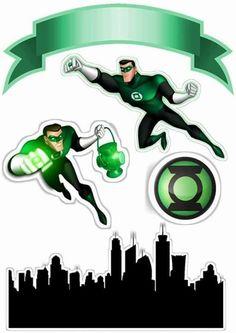 Uau! Veja o que temos para Topo de Bolo de Papel Lanterna Verde