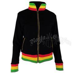 Rasta Bob Marley Rastafarian Dub Reggae Logo Full Zip Hoodie