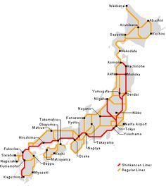Japan Bullet Train Map Road The Train Osaka To Hiroshima Where - Japan map rail