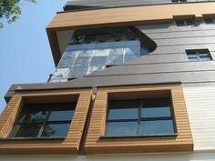 Фасадная доска термо | отделка фасадов домов деревом | деревянные фасады домов | планкен термо