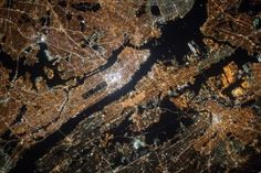 View of New York City, USA, from the International Space Station - Bing Wallpaper. Bing daily images are all in bing. Provides Bing daily wallpaper images gallery for several countries. Earth And Space, Jordan Tourism, Jordan Travel, Satellite View Of Earth, Ciel Nocturne, City Of Petra, Earth Surface, Travel Wallpaper, Mac Wallpaper