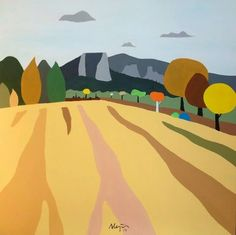 ARTFINDER: The cornfield by ALEJOS Lorenzo Vergara - The cornfield, 100 x 100 cm, $1215