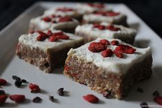 Vanilla Bliss Bars with Coconut-Cashew Icing