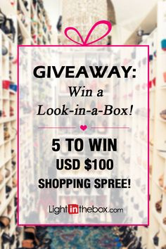 And the winners are... (drum roll, please!)  1. Jєѕѕι¢α Hσωαя∂, 2. Audrey Rose, 3. Elizabeth Sena, 4. Cityscape Bliss and 5. Sheri Lee. Congratulations! You have each won a $100 shopping spree at LightInTheBox! To claim your prize, please send us a private message. Stay tuned for more giveaways!