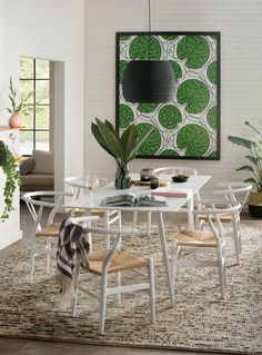 Marimekko Bottna x Abstract Wallpaper Roll Modern Wall, All Modern, Modern Decor, Metallic Wallpaper, Wallpaper Roll, Marimekko Wallpaper, Black Pendant Light, Mini Pendant, Contemporary Dining Table