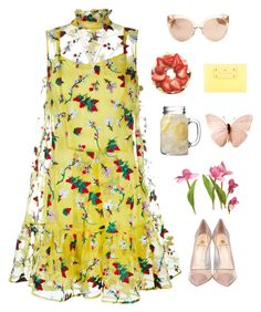 """""""Spring time! """" by genesis129 ❤ liked on Polyvore featuring Erdem, Semilla, Forever 21, Linda Farrow and Kate Spade"""