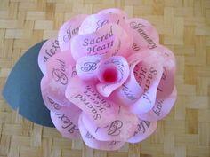 Rosa BAUTIZO Bautismo invitación de papel rosa invitación con