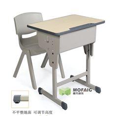 育才幼儿园小学中学单人课桌椅儿童桌学生课桌椅培训班成套041