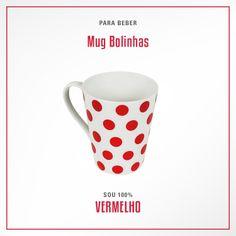 Aquela xícara de café de todas as manhãs nunca foi tão charmosa. Mug de bolinhas vermelhas. <3 #100porcentomarcapropria #100porcentovc #vermelho #red #polkadots #poá #kitchen #cozinha #mug #caneca