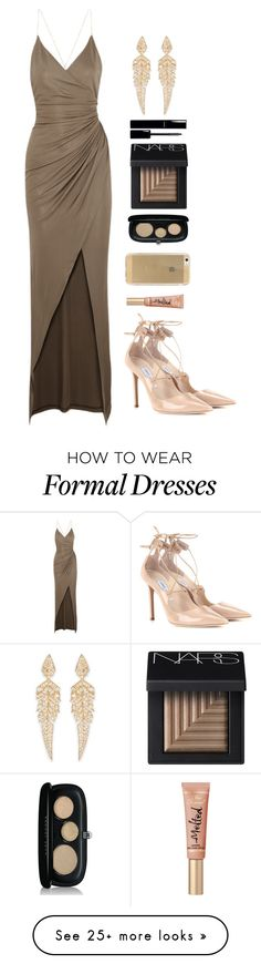 """Kendall inspired for a formal event"" by robinheera16 on Polyvore featuring Balmain, Jimmy Choo, Marc Jacobs, NARS Cosmetics, Stephen Webster, Chanel, women's clothing, women, female and woman"