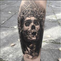 Jesus Skull Tattoo