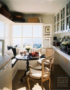 I like the use of this small space, and must have those windows on the sunroom