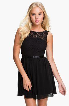 Frenchi® Lace Bodice Dress (Juniors) - Vegas