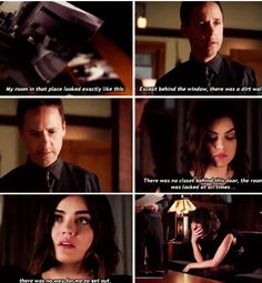 "#PLL 6x04 ""Don't Look Now"" - Aria and her dad. #6/23/15"