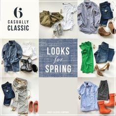 The weather is changing, flowers are blooming and it's time to switch out our chunky sweaters and cozy layers for easy, cheerful casual spring looks. Since we can all use a few new outfit ideas, I've put together six of my favorite looks for spring. And BONUS! most items are recent purchases an…