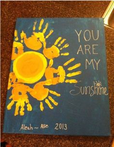 You are my Sunshine painting. SO cute!