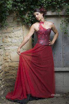 Robes de mariee rouge bordeaux