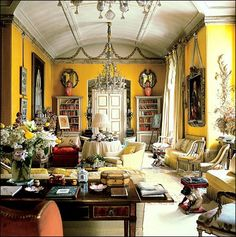 nancy lancaster- the world of interiors. The most famous yellow room ever