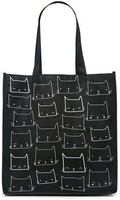 FOREVER 21 Cat Face Print Eco Tote ( 1.90) Forever 21 Purses 54358a3b2da