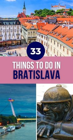 Tasting delectable beer. Exploring quaint areas. Marveling at majestic rivers. These are just some of the cool things to do in Bratislava. Click to find more. | Things to Do in Bratislava Slovakia | What to Do in Bratislava Slovakia | Bratislava Travel Guide | Bratislava Things to Do and See | Bratislava Activities | Landmarks in Bratislava | Attractions in Bratislava Slovakia Backpacking Europe, Europe Travel Guide, Travel Guides, Travel Abroad, European Destination, European Travel, Winter Travel, Travel Posters, Travel Pictures
